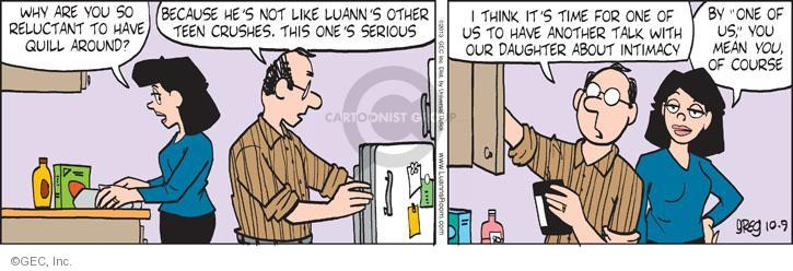Comic Strip Greg Evans  Luann 2013-10-09 father daughter