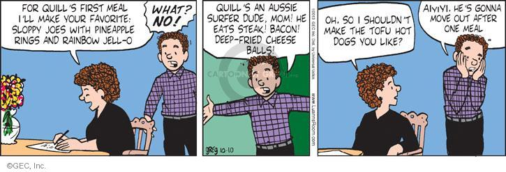 Comic Strip Greg Evans  Luann 2013-10-10 mealtime