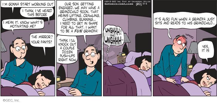 Comic Strip Greg Evans  Luann 2013-10-06 know