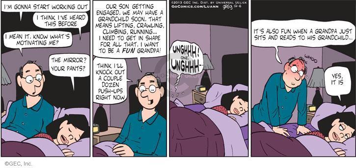 Comic Strip Greg Evans  Luann 2013-10-06 lift