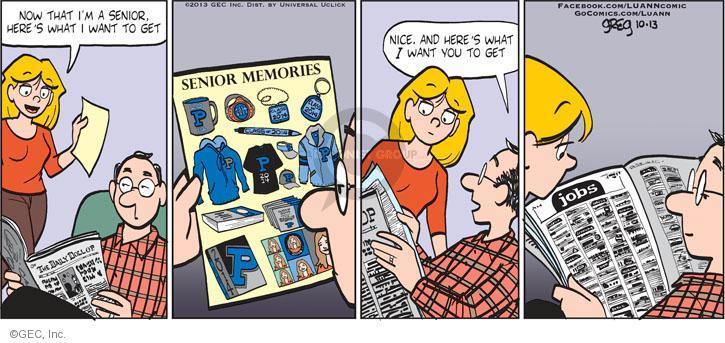 Cartoonist Greg Evans  Luann 2013-10-13 parental