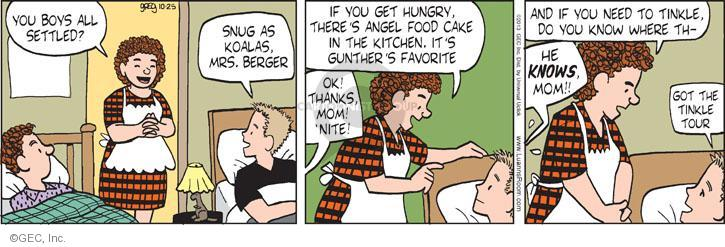 Comic Strip Greg Evans  Luann 2013-10-25 favorite food