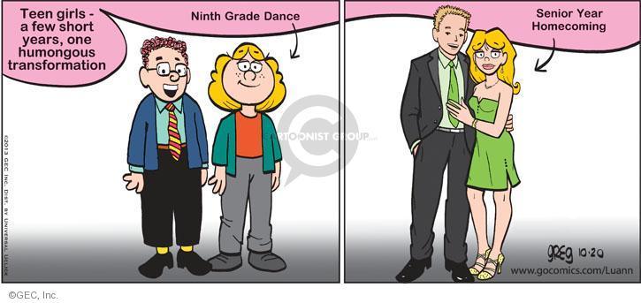 Comic Strip Greg Evans  Luann 2013-10-20 young woman