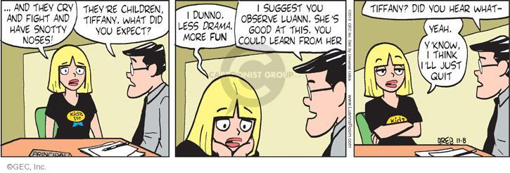 Comic Strip Greg Evans  Luann 2013-11-08 expect