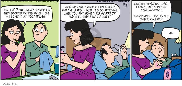 Comic Strip Greg Evans  Luann 2013-11-03 married couple