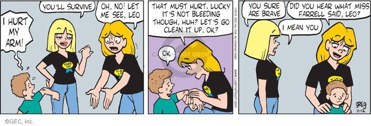 Comic Strip Greg Evans  Luann 2013-11-12 Farrell