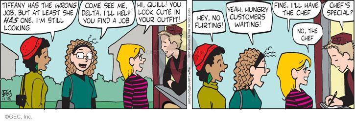 Comic Strip Greg Evans  Luann 2013-11-15 employment
