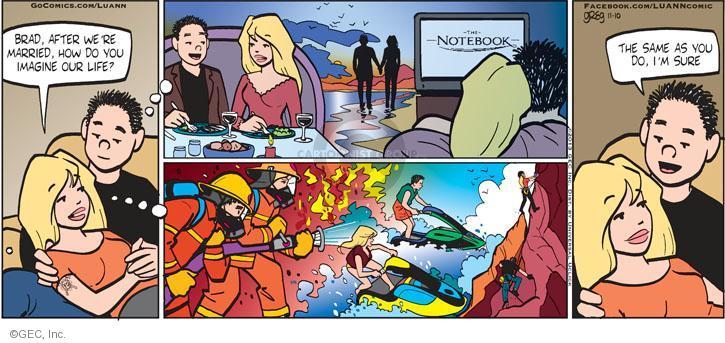 Comic Strip Greg Evans  Luann 2013-11-10 romantic fantasy