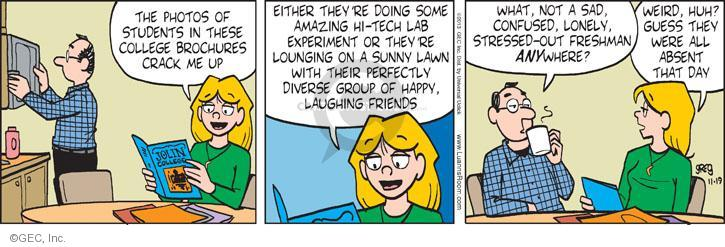 Comic Strip Greg Evans  Luann 2013-11-19 group