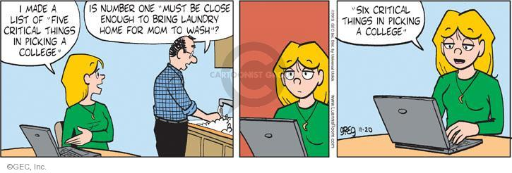 Comic Strip Greg Evans  Luann 2013-11-20 housework