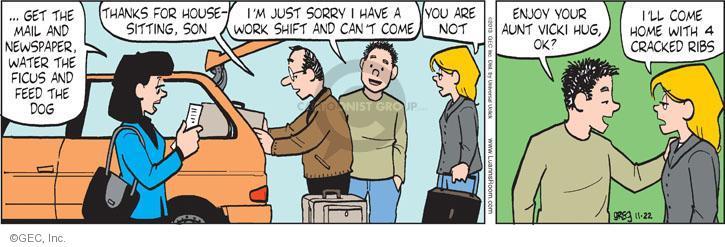 Comic Strip Greg Evans  Luann 2013-11-22 family