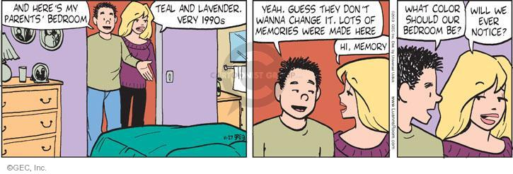 Comic Strip Greg Evans  Luann 2013-11-27 married couple