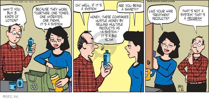 Comic Strip Greg Evans  Luann 2013-11-24 hustle