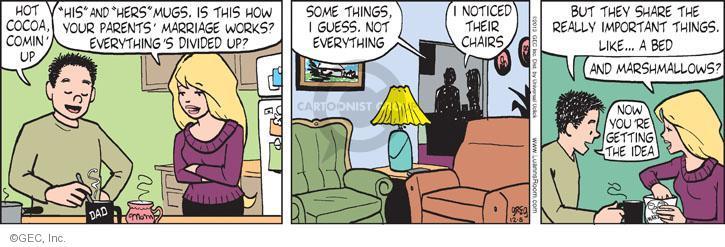 Cartoonist Greg Evans  Luann 2013-12-05 bed