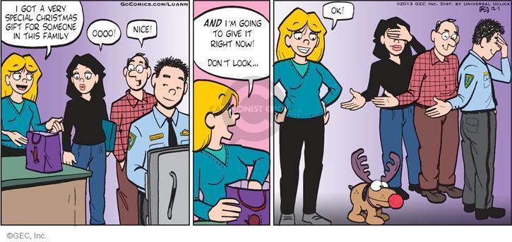 Comic Strip Greg Evans  Luann 2013-12-01 gift giving