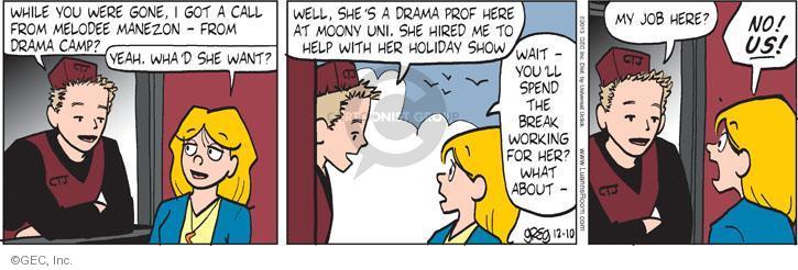 Comic Strip Greg Evans  Luann 2013-12-10 drama camp