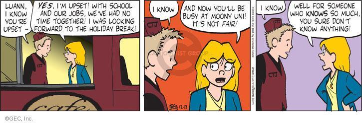 Comic Strip Greg Evans  Luann 2013-12-13 lifestyle