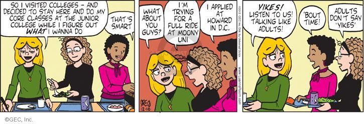 Comic Strip Greg Evans  Luann 2013-12-16 junior college