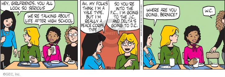 Comic Strip Greg Evans  Luann 2013-12-17 into