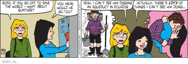 Comic Strip Greg Evans  Luann 2013-12-20 shy