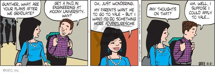 Comic Strip Greg Evans  Luann 2013-12-21 graduate