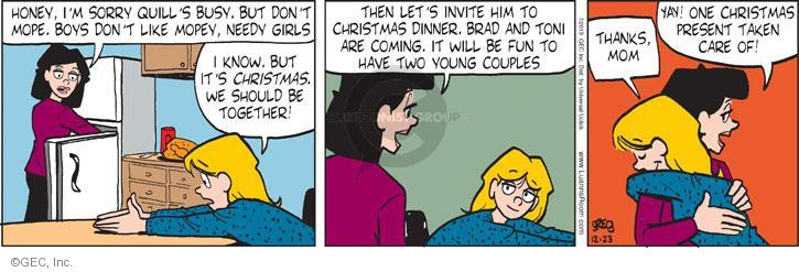 Comic Strip Greg Evans  Luann 2013-12-23 Christmas gift