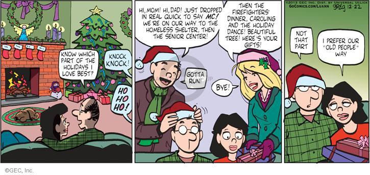 Comic Strip Greg Evans  Luann 2013-12-22 Christmas gift