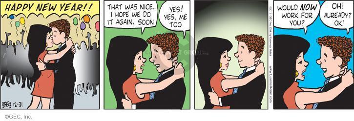 Comic Strip Greg Evans  Luann 2013-12-31 affection
