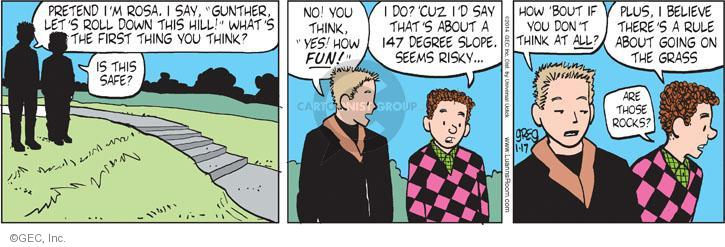 Comic Strip Greg Evans  Luann 2014-01-17 spontaneity