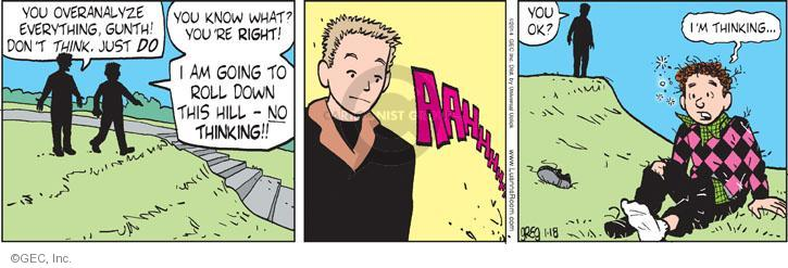 Comic Strip Greg Evans  Luann 2014-01-18 spontaneity