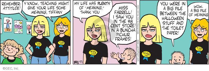 Comic Strip Greg Evans  Luann 2014-01-22 teacher