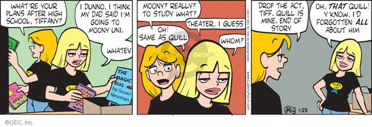 Comic Strip Greg Evans  Luann 2014-01-23 drop