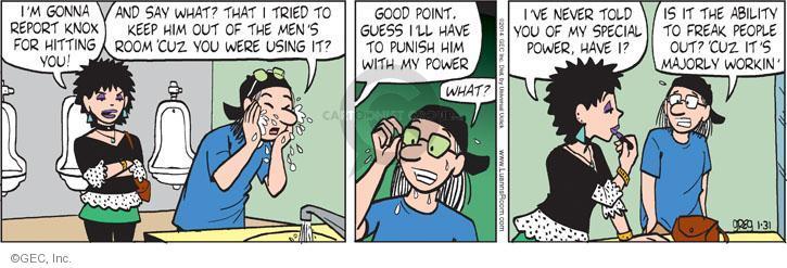 Comic Strip Greg Evans  Luann 2014-01-31 vengeance