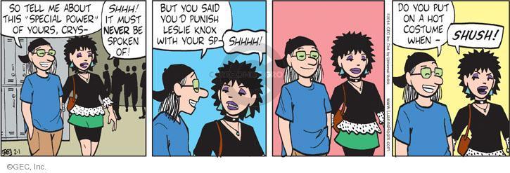 Comic Strip Greg Evans  Luann 2014-02-01 vengeance