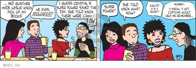 Comic Strip Greg Evans  Luann 2014-02-08 superhero