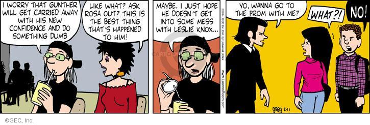 Comic Strip Greg Evans  Luann 2014-02-11 Knox