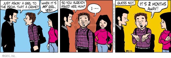 Comic Strip Greg Evans  Luann 2014-02-12 shy