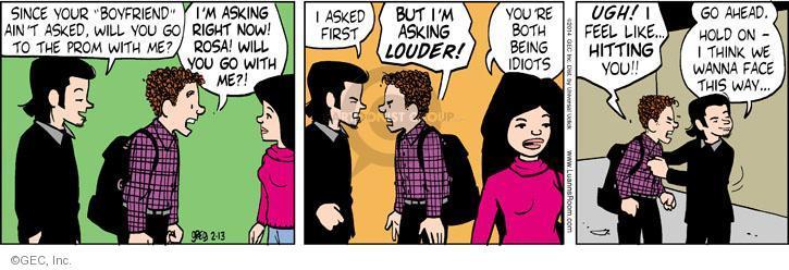 Cartoonist Greg Evans  Luann 2014-02-13 hold