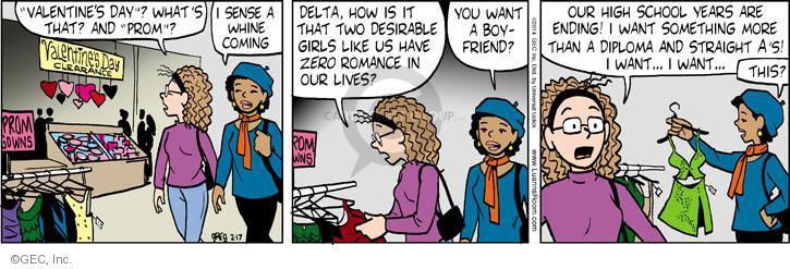 Comic Strip Greg Evans  Luann 2014-02-17 school clothes