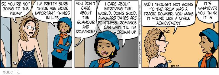 Comic Strip Greg Evans  Luann 2014-02-19 pretty girl