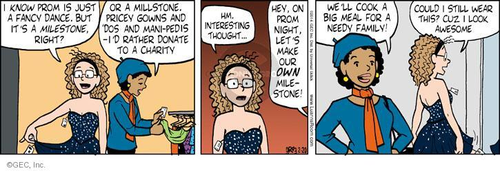 Comic Strip Greg Evans  Luann 2014-02-20 manicure