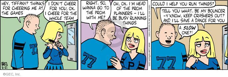 Comic Strip Greg Evans  Luann 2014-02-21 football