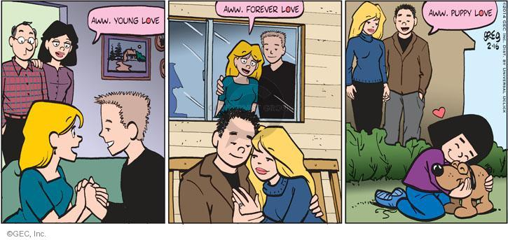 Comic Strip Greg Evans  Luann 2014-02-16 affection