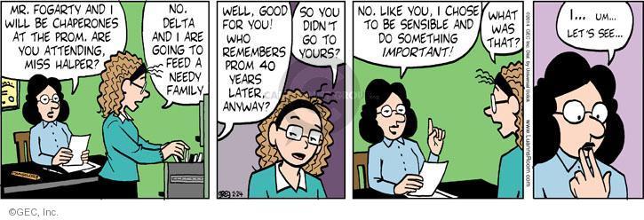 Comic Strip Greg Evans  Luann 2014-02-24 attend
