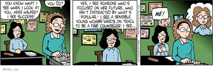 Comic Strip Greg Evans  Luann 2014-02-25 counselor
