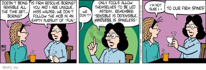 Comic Strip Greg Evans  Luann 2014-02-27 personality