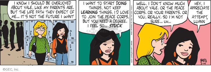 Comic Strip Greg Evans  Luann 2014-03-14 lifestyle