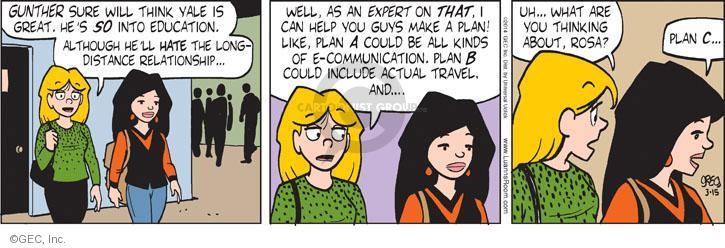 Comic Strip Greg Evans  Luann 2014-03-15 plan B