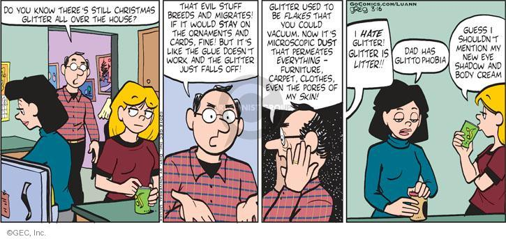 Comic Strip Greg Evans  Luann 2014-03-16 glue