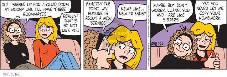 Comic Strip Greg Evans  Luann 2014-03-20 friendship